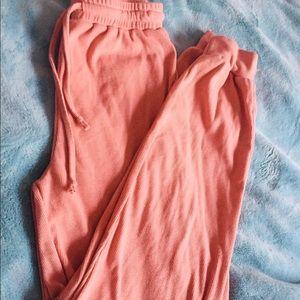 Pants - 🎄Pink ribbed jogging pants